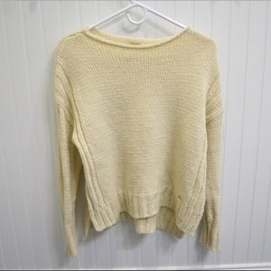 NWOT Ribbed Sides High Low Knit Sweater!